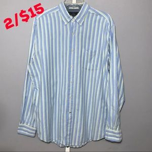 Nautica Men's Dress Shirt Button Front